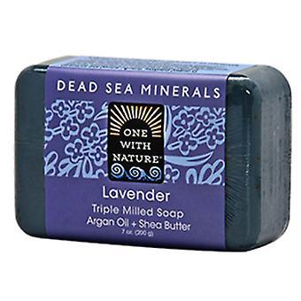 One with Nature Dead Sea Bar Soap, 7 Oz, Lavender