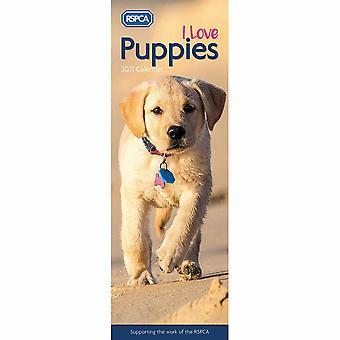 Otter House 2021 Slim Calendar-rspca I Love Puppies