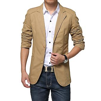 YANGFAN Mens Casual 2 Buttons Slim Fit Suit Jacket Blazer