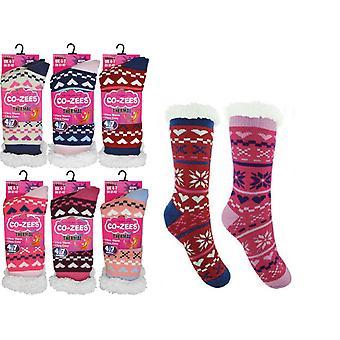 Otterdene Sherpa Lined Socks Assorted AS846