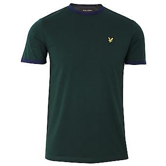 Lyle & scott men's jade green ringer t-shirt