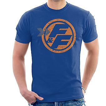 Nopea ja raivoisa oranssi FF-kuvake Men's T-paita