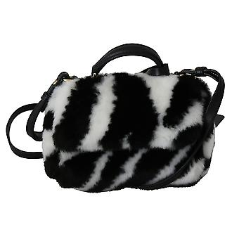 Black white fur cross body sling girls child sicily bag