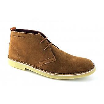 London Brogues Caxton Mens Suede Desert Boots Tan