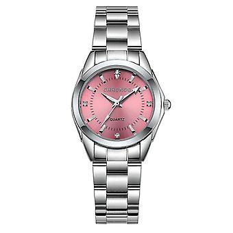 Orologi al quarzo in acciaio inossidabile in acciaio inossidabile di lusso da donna, orologio da donna