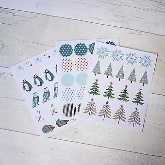 Winter Forest Stickers 116 Stickers 14 Designs Christmas Craft