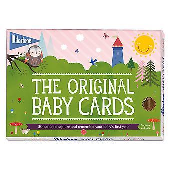 Original baby keepsake cards by milestone - newborn's first year memories original