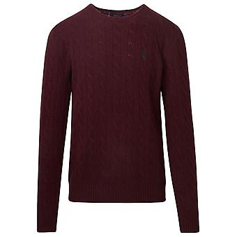 Ralph Lauren 710719546022 Mænd's Bourgogne Uld Sweater