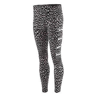 Elle Cheetah All Over Print Youth Kids Girls Legging Tight Trouser Black