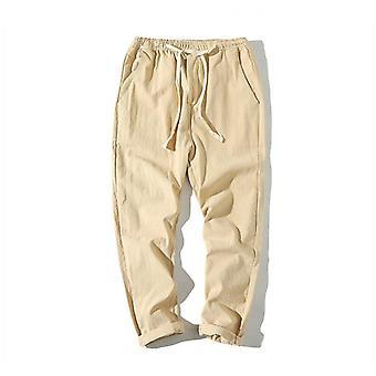 Men's Harem Housut, Summer Fitness Rento Nilkkapituiset Housut Streetwear