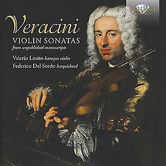 Veracini/Losito/Del Sordo - Vln Sons From Unpublished Manuscripts [CD] USA import