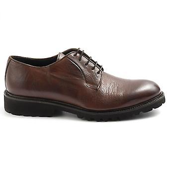 Férfi csipke-up cipő sangiorgio puha barna bőr