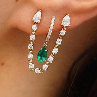 Cercei Josephine pe aur 18K, diamante si piatra pretioasa - Ruby | | de smarald Safir