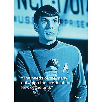 Star Trek Spock iQuote Postcard