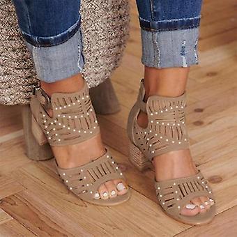 Vintage Hollow Out Sandals
