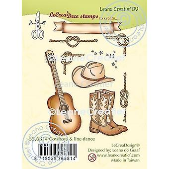 Leane Creatief Cowboys & Line Dance Clear Stamps