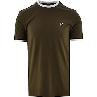 ライル&スコットグリーンリンガーTシャツ