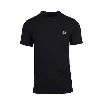 Fred Perry Ringer Camiseta Negro