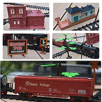 Nouveau train électrique Set Rc Railway Remote Control Rail Cars Steam's Toy