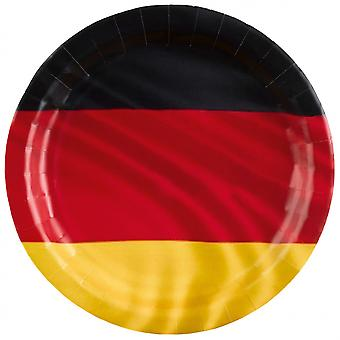 Signs German Flag 23 Cm Paper Red / Black / Yellow 8 Pieces