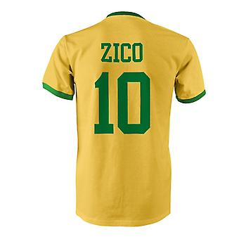 Zico 10 Brazil Country Ringer T-Shirt