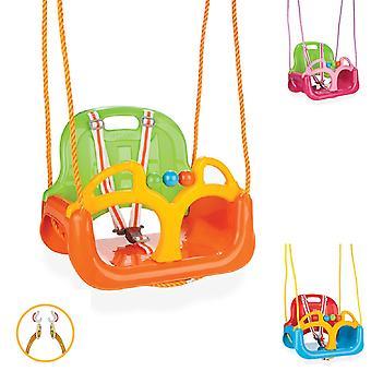 Pilsan Babyschaukel 3 in 1 Samba Swing 06129 mit abnehmbarem Bügel, Rückenlehne
