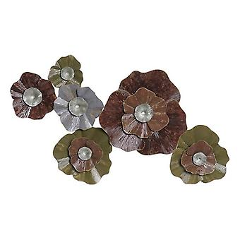 Wall Decoration Dekodonia Metal Flowers