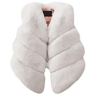 Faux Fur Vest-warm Colorful Waistcoat
