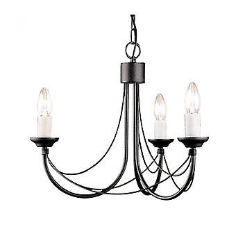 Lámpara Colgante Carisbrooke, Negra, 3 Bombillas