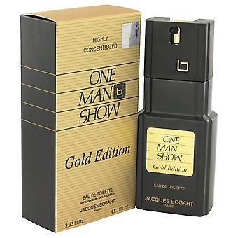 One Man Show Gold Eau De Toilette Spray By Jacques Bogart 3.3 oz Eau De Toilette Spray