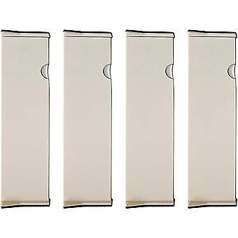 4 Pack Schubladenteiler Verstellbare Aufbewahrungs-Organisatoren aus Kunststoff - Erweiterbares