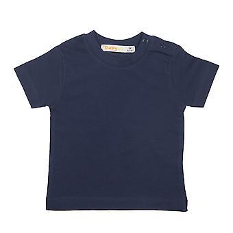 Baby Ball Plain Blue Tshirt Short Sleeves