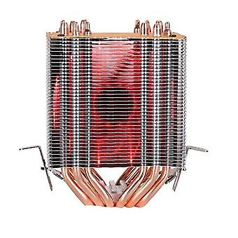 6 Heat-pipes Rgb Cpu Cooler Radiator Cooling 3pin 4pin 2 Fan For Intel