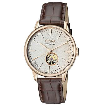 Gevril Mulberry Open Heart Automatic Silver Dial Men's Watch 9602