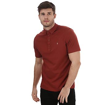 Men's Farah George Polo Shirt in Brown