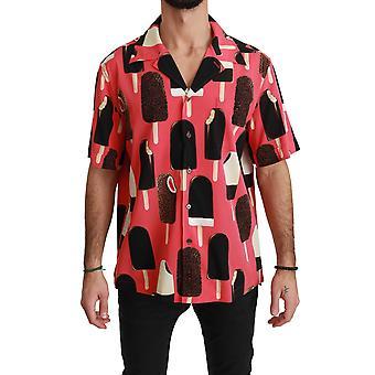 Rosa Silk Ice Cream Print Casual shirt