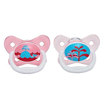 Dr Browns PreVent Soother Rosa 0-6m 2Pk