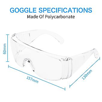 Lightweight Safety Glasses Transparent Universal 10 pieces| Polycarbonate | CE approved | Fireworks goggles | Protective glasses | Eye protector | Splash goggles |