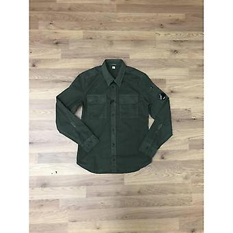 CP Empresa Garbardine Camisa de Manga Longa - Verde