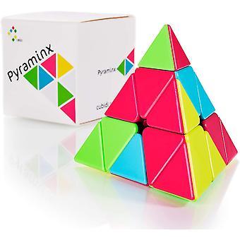 HanFei - Zauberwrfel Pyramide - Spannender Brainteaser fr Kinder und Erwachsene (ohne Sticker)