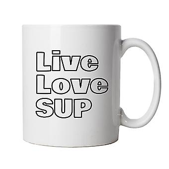 Live Love Sup, Mug - Stand Up Paddle Boarding Accessories Gift Him Her
