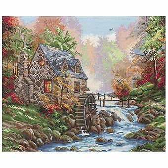 Anchor Counted Cross Stitch Kit: Maia Collection: Cobblestone Mill