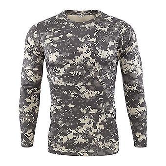 Koszulka z kamuflażem wojskowym, męski t-shirt z szybkim suszeniem