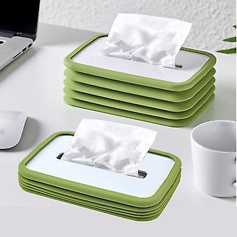 Silicona Elástica Elevación coche tissue box restaurante mesa de centro Sala de estar Casa Caja de papel no puede dejar tejido creativo