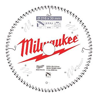 Milwaukee 216mm 80T Aluminium Cutting Mitre Saw Blade
