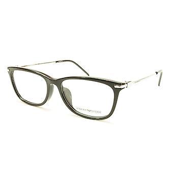 Emporio Armani EA3062F 5017 Eyeglasses Frame Acetate Metal Shiny Black Silver