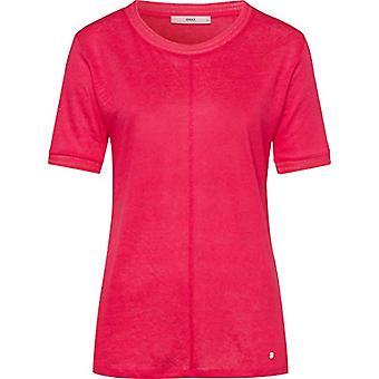 BRAX Cathy Linen T-Shirt, Viola (Papaya 85), 50 (One Size: 44) Woman