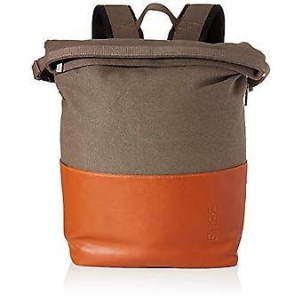 Bree Unisex Adult Backpack Punch Casual 733, grey/cognac, grey (grey)