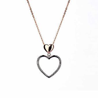 With Love - Falling Hearts Icons Pendentif - Prolongateur 40cm +3cm - Or Rose - Cadeaux bijoux pour femmes de Lu Bella