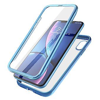 iPhone XR Yksisarvinen Kuoriainen Sähkö kirkas kotelo (sininen)